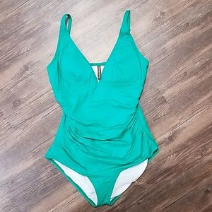 Green Tommy Bahama one piece swimsuit
